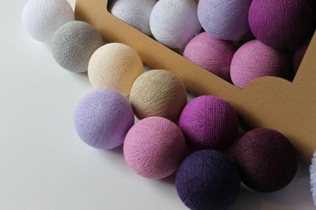 Świecące kule COTTON BALL zestaw Majestic Love 50 sztuk