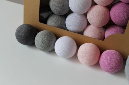 Świecące kule COTTON BALL zestaw Velvet Touch 35 sztuk