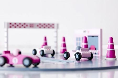 Tor wyścigowy różowy Kids Concept