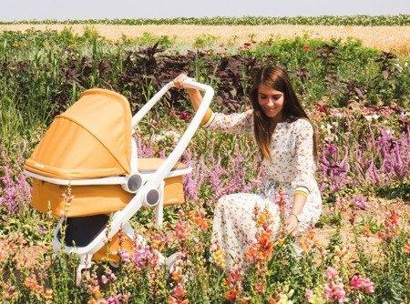 Wózek głeboki Greentom CARRYCOT eko biało-różowy