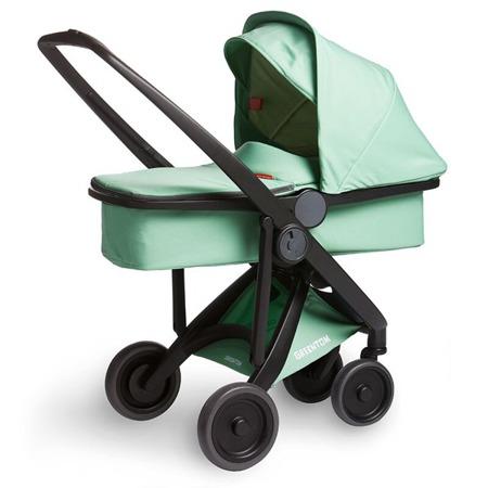 Wózek głeboki Greentom CARRYCOT eko czarno-miętowy, 10 kolorów